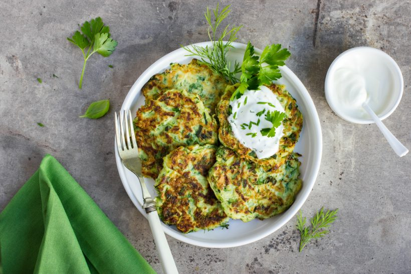 Zucchini Pancakes with Dill and Scallion