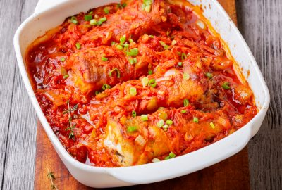 Cod in Vegetable Tomato Sauce