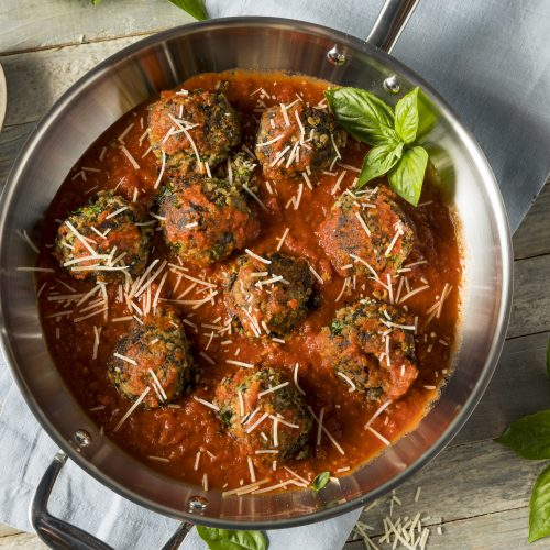 "Simple and Savory Eggplant ""Meatballs"""